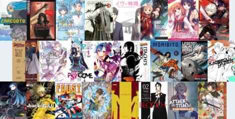 Lots of light novels